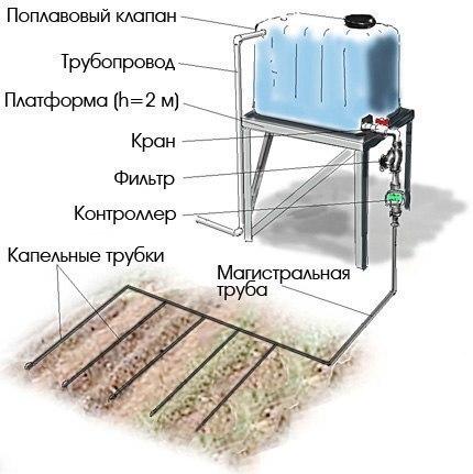 Как сделать простейший капельный полив из бочки