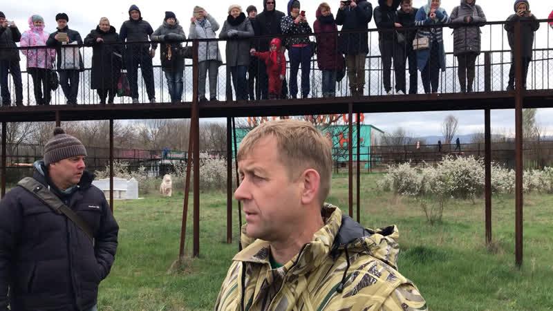 Олег Зубков на выпуске львов