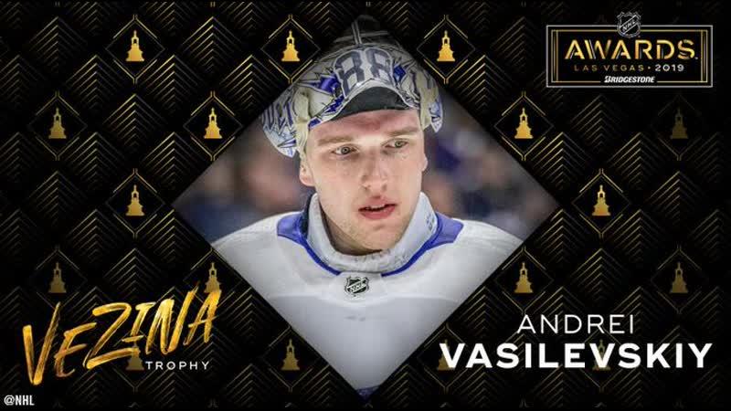 Andrei Vasilevskiy wins Vezina as NHL's best goalie   June 19, 2019