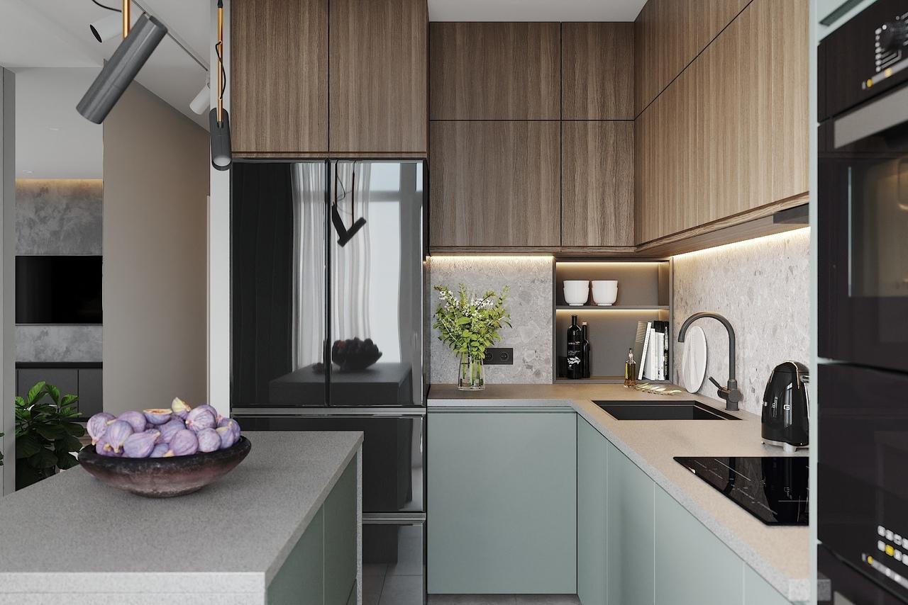 Кухня-гостиная 25 кв.