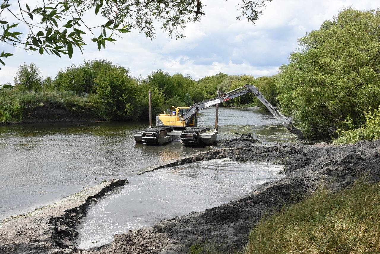 В Курской области начались работы по реабилитации реки Сейм
