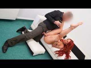 Jennifer Keelings - Jennifer Keelings gets a facial (Big Tits, MILF, Casting, Blowjob, POV, Deep Throat, Titty Fuck, Red Head)