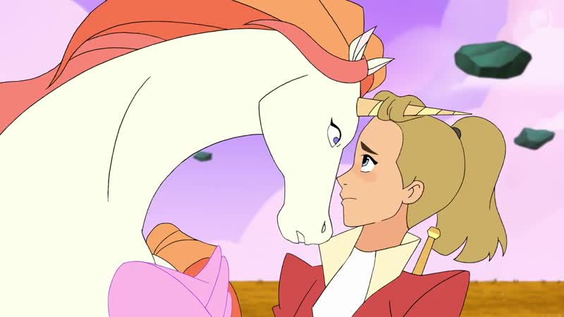Swift Wind and Adora are trying to bond, but Adora's having a hard time warming up to her flying, talking steed.