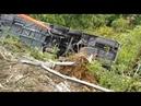 Место аварии с туристами из России в Италии