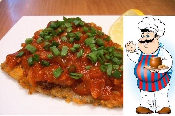 РЫБА В ДУХОВКЕ: ТОП-6 РЕЦЕПТОВ 1) Рыба в томатном соусе ИНГРЕДИЕНТЫ: минтай 1200 г соль, перец, оливковое масло, приправы по вкусу сахар 1 ч.л. морковь 300 г лук 2 шт. чеснок 2-3 зубчика
