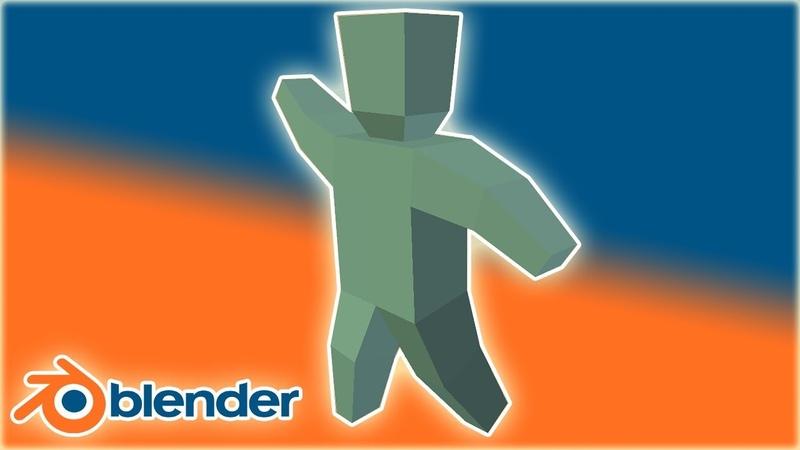Анимация персонажа,armature mirror,pivot point shortcut Blender 3D