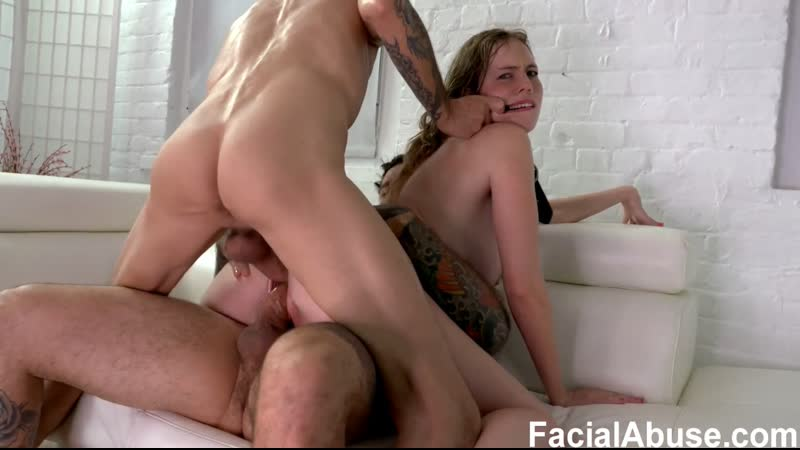Rebel Rhyder DP and Double Anal Rough Sex Hardcore Deepthroat Gagging Saliva Pervert Humiliation Slave