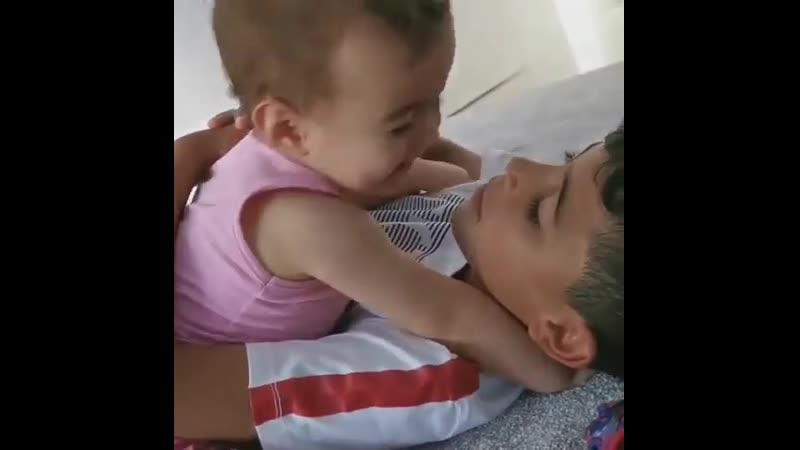 Ronaldo jr. and his younger sister😍