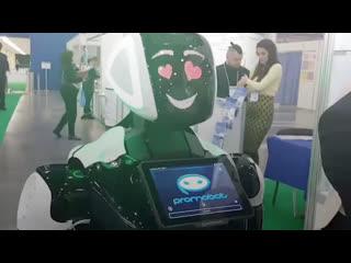 Робот Степан на медицинском международном форуме