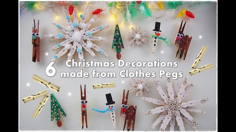 🦌❄️☃️ 6 DIY Clothespins Christmas Ornaments for Kids ❀ Emily's Small World ❀