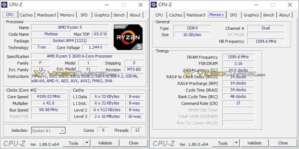AMD Ryzen 5 3600 протестирован в Cinebench