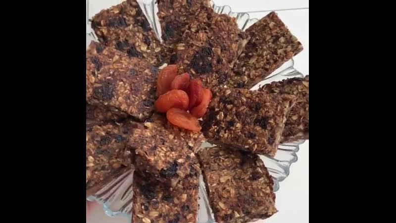 Вкуснейшие батончики из овсянки без добавления сахара