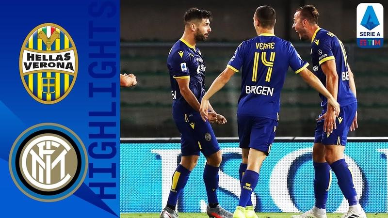 Верона 2-2 Интер Обзор матча чемпионата Италии Серия А