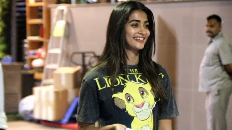 Pooja Hegde Wears The Lion King Logo T Shirt Pooja Hegde Promotes The Lion King
