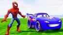 Синий Маквин Тачки 3 Гонки Мультики про Машинки Супергерой Человек-паук Песенки Мультики для Детей