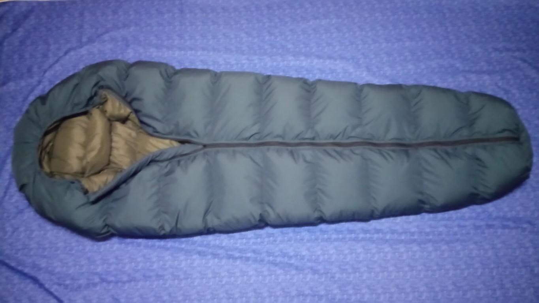 Пуховый спальник - кокон.