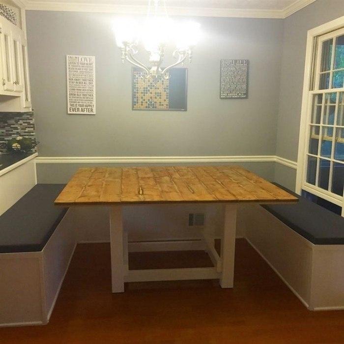 Кухонный уголок своими руками - небольшой обзор процесса работы