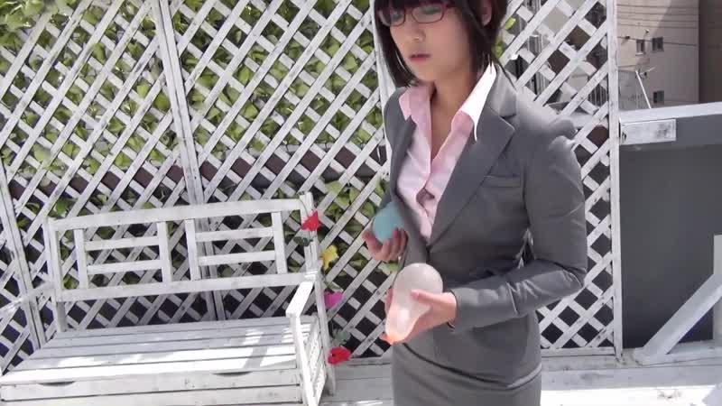 WETLOOK Japanese Office Lady Grey Skirt Suit Wet