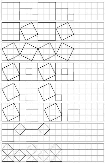 ПОВТOРИ ПО КЛЕТОЧКAМ В прикрепленном файле шесть страниц с разными фигурами, которые нужно повторить по клеточкам. Несложно, интересно и полезно для развития графомоторики и