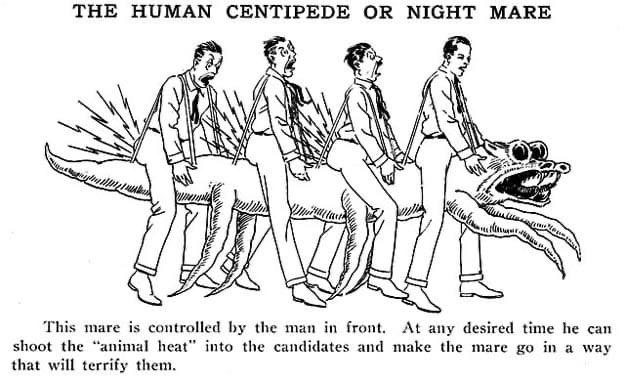Человеческая многоножка существовала в 1928 году