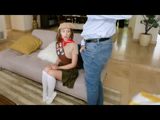 Daphne Dare - Small And Sexy Sales Pitch (Teen, Brunette, Doggystyle, Facial, Indoor, Missionary, Uniform, Outdoor, Girl Scout)