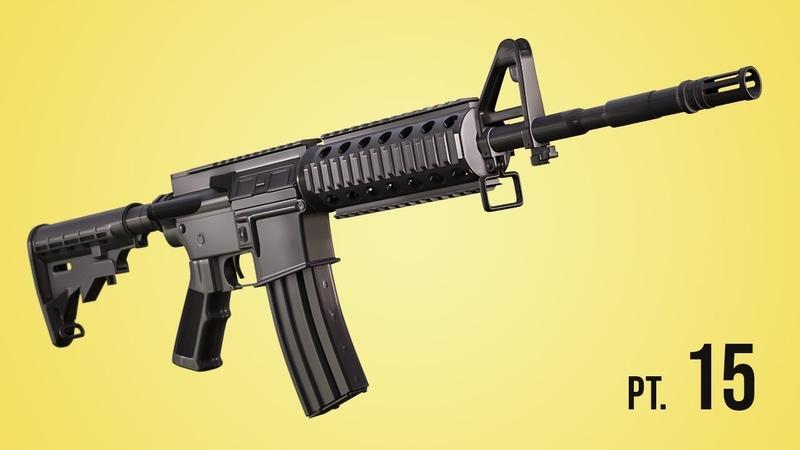 Modeling a M4 Rifle - Pt. 15 (Blender 2.6 Tutorial)