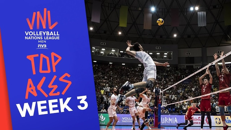 Top Aces of Men's VNL2019 Week 3 Volleyball Nations League 2019