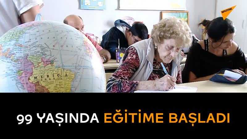 99 yaşında eğitime başladı: Sırada bilgisayar dersleri var