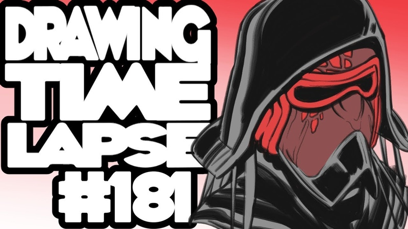 Drawing Time Lapse 181 - Kylo Ren Redesigns