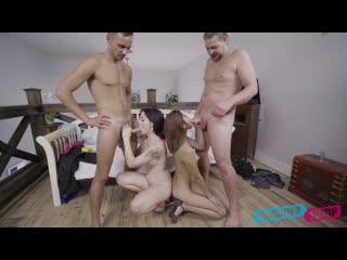 [DaughterSwap] Remi Jones & Hazel Heart - College Prep All Sex, Foursome, FFMM, Piercings, Blow Job, Blue Eyes, Brunette