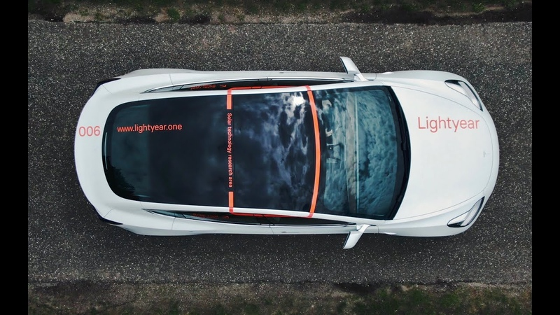 Lightyear Research Vehicle Tesla Model 3 with solar roof
