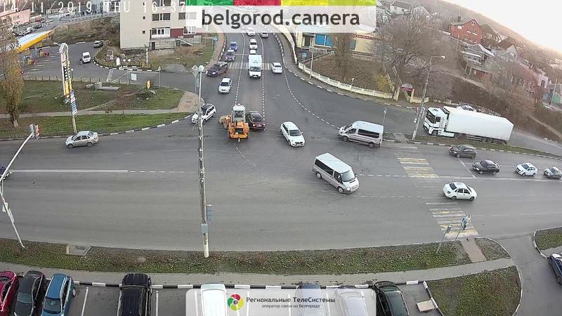 Не проскочишь! ДТП с экскаватором в Белгороде.
