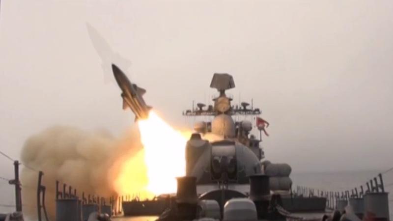 Пуски крылатых ракет «Москит» кораблями Тихоокеанского флота в Японском море