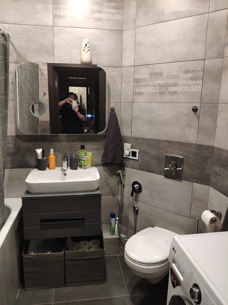 Наш ремонт, который мы сделали полгода назад. Современная ванная комната