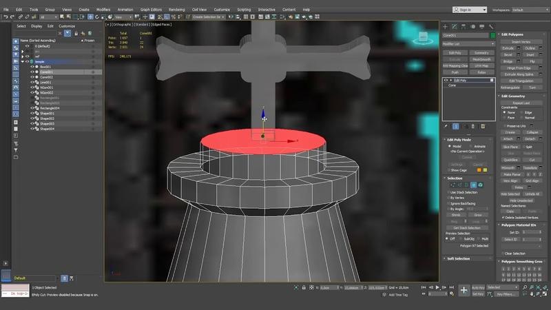 Трейлер онлайн курса Low poly моделирование в 3DS Max