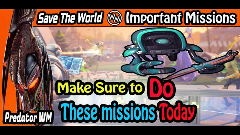 Daily Important missions to do TODAY Fortnite STW