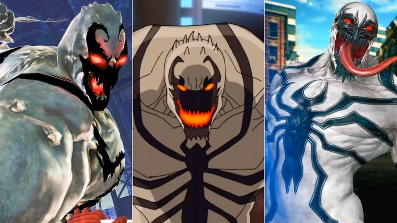 Эволюция Анти-Венома в мультфильмах и играх