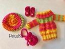 Como tejer boina en crochet para muñeca Melissa amigurumis by Petus