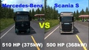ETS2 Comparison - 510HP Mercedes-Benz New Actros vs 500HP Scania S High Roof - [Truck vs Truck]