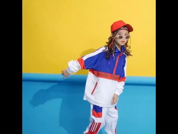 Детская сине белая куртка штаны для бега одежда в стиле хип хоп костюм джазовых танцев девочек