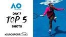 Top 5 shots - Day 7 Australian Open 2021 - Highlights Tennis Eurosport