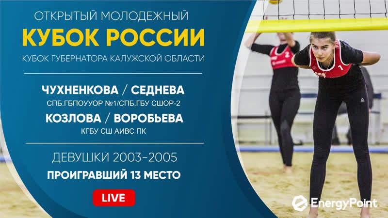 Проигравший 13 место Чухненкова Седнева VS Козлова Воробьева Обнинск 17 02 2020