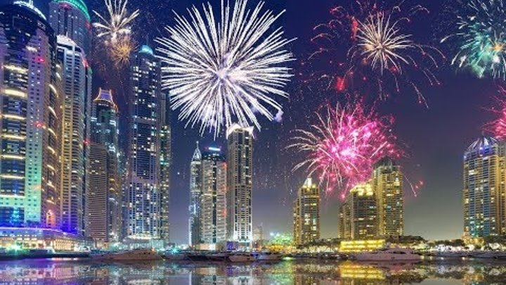 Дубай Новый год салют 2019 Dubai New Year 2019