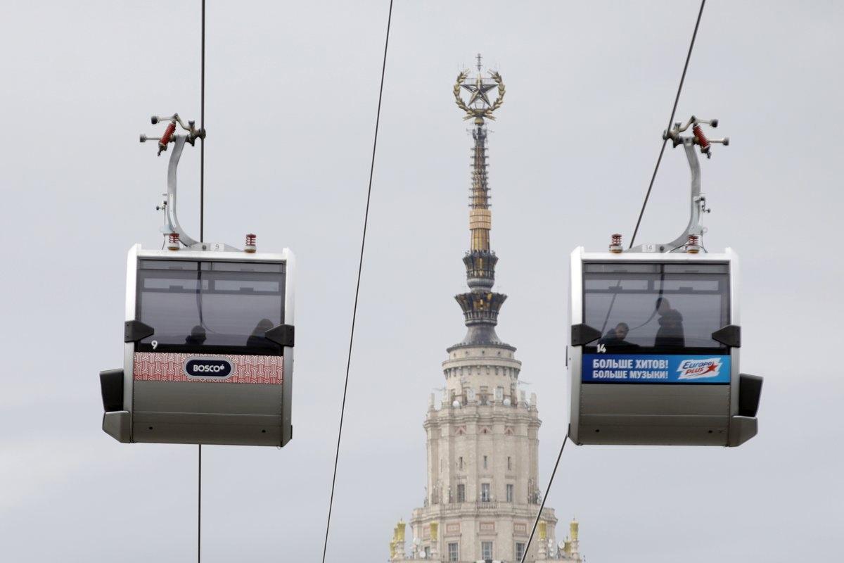 В Москве на техобслуживание закроют канатную дорогу.