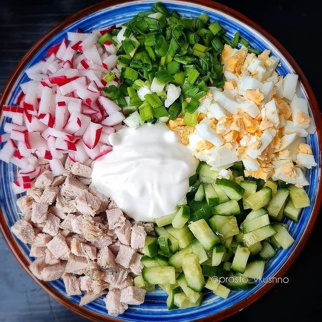 Лёгкий, весенний салат, идеально на ужин