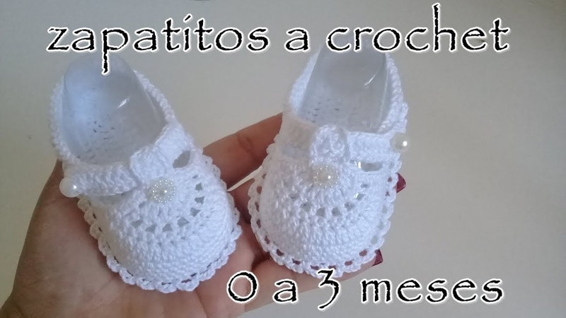 Zapatitos a crochet para bebe Modelo Daniela 0 3 meses