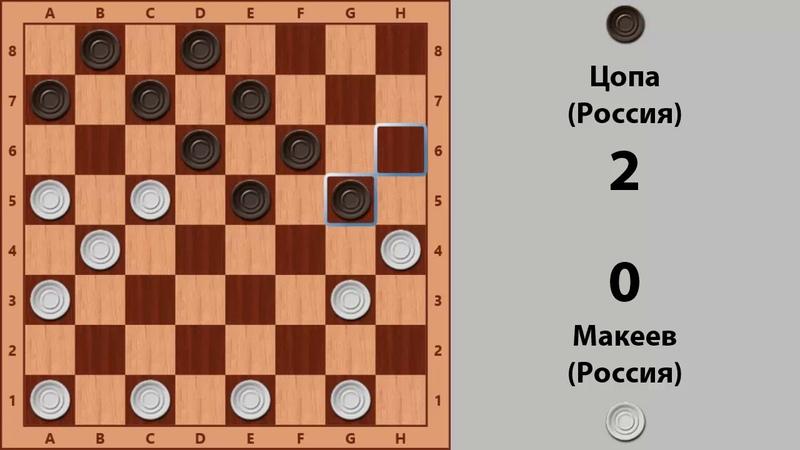 Макеев - Цопа. Чемпионат Мира по Русским шашкам 1994