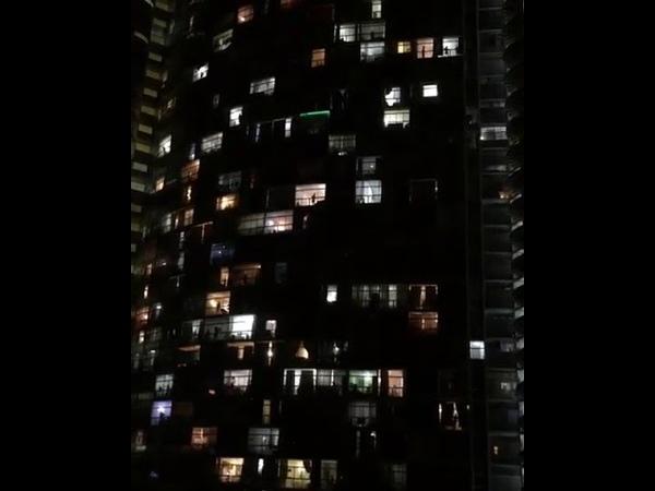 Edifício Copan aos gritos de EleNão contra Bolsonaro em São Paulo HaddadSim