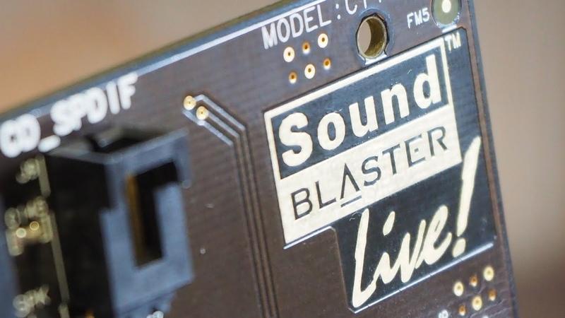 Creative Sound Blaster Live Эпоха Аппаратного Ускорения Звука ЖелеZZo