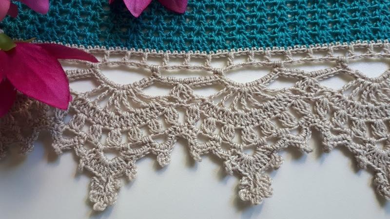 МК Красивая ажурная кружевная кайма крючком для сарафана платья юбки скатерти